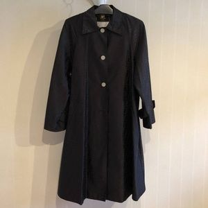 Fendi Black Zuccca Monogram FF TRench Coat